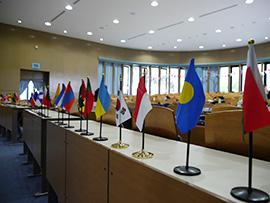 公文国際学園 模擬国連の様子