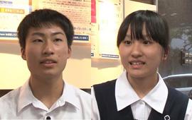 「トビタテ!留学JAPAN」の公文生 松尾さん(左)と海谷さん(右)