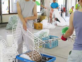 就労継続支援B型事業所でのKUMON 資源ゴミの分別